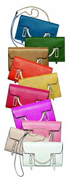 Coccinelle bags, I can't even decide which color I love the most!