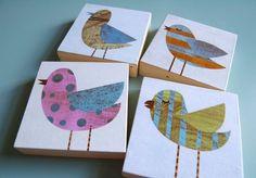 http://www.etsy.com/listing/60457572/collage-bird-art-blocks-set-of-four-3-in