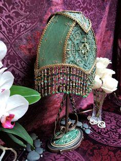 Collection - Elegance Lamps Art Nouveau, Art Deco, Velvet Upholstery Fabric, Antique Lamps, Jasper Stone, Steampunk Fashion, Lampshades, Victorian, Textiles