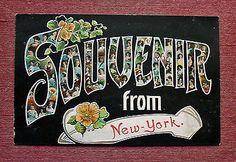 LARGE LETTER SOUVENIR GREETING NEW YORK CITY