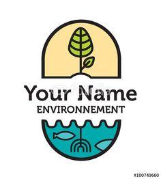 Logo, environnement, durable, bio