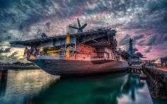 midway aircraft carrier museum in san diego hdr