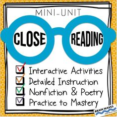 3 Close Reading Passages - 9 Close Reading Activities --- Hands-on, interactive, and designed to help students uncover layers of meaning and develop a deep understanding of each passage and the skill of close reading.