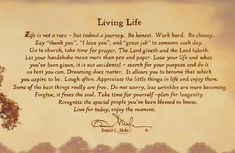 """living life by bonnie l mohr 
