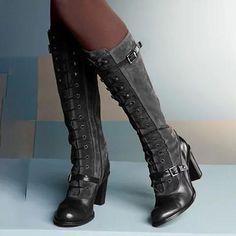 Flat Heel Boots, Block Heel Boots, Knee Boots, Women's Boots, Buy Boots, Calf Boots, Heeled Boots, Women's Lace Up Boots, Block Heels