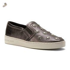 MICHAEL Michael Kors Women's Leo Starburst Slip On Sneakers, Gunmetal, 8 B(M) US - Michael kors sneakers for women (*Amazon Partner-Link)
