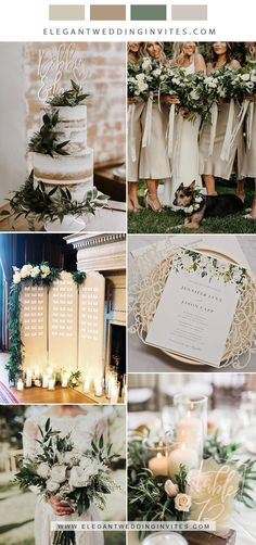 classic champagne, white and greenery neutral wedding color inspiration Champagne Wedding Colors Scheme, Neutral Wedding Colors, Winter Wedding Colors, Wedding Color Schemes, Autumn Wedding, November Wedding Colors, Wedding Color Pallet, Color Inspiration, Color Combos
