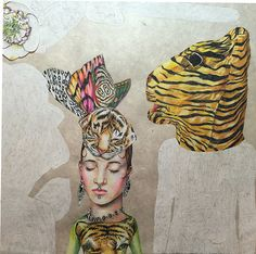 detail shot of 'Fearful Symmetry' my newest colored pencil drawing in progress..on Lama Li paper of course...it gets me brilliant color #lorifield #coloredpencil #nature #tigers #butterflies #art #tigers #workinprogress #workonpaper #drawing