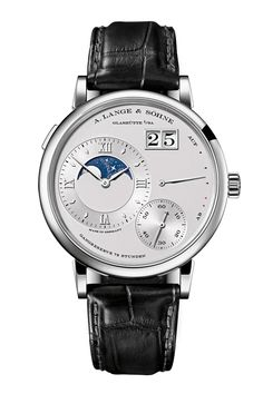 "The quiet kings of Saxon horology need no introduction to watch aficionados, who consider A Lange & Söhne Germany's answer to Patek Philippe. Enough said, ja?    Watch of the collectionThe Grand Lange 1 Moon Phase has a superb finish and an exquisite lunar phase movement. Keep the mechanism running, and the ""GLOMP"" will track the moon's waxing and waning for more than 100 years.  From £33,100. alange-soehne.com"