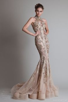Krikor Jabotian Couture wedding 2014 | Krikor Jabotian Fall 2013 Couture — Closure Collection | Wedding ...