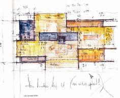 Plan. Alpine home. Leis, Switzerland. Peter Zumthor. 2008
