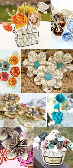 Paper Flower Tutorials... SOOO many cute ones!