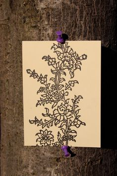 Wedding Flower Cards (Indian Block Print)