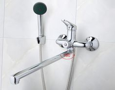 "HOT PRICES FROM ALI - Buy ""Frap Bathroom Mixer stainless steel long nose outlet brass shower faucet from category ""Home Improvement"" for only USD."