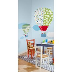Hot Air Balloons Wall Stickers, Childrens Wall Stickers by RoomMates | Becky & Lolo