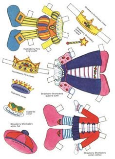 "✄ #Paper dolls.....""Strawberry Shortcakes Paper Doll Book"" Page 2"