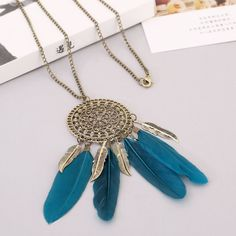 Collier Femme Plume Native American Fringe Necklace Collier attrape reve Colares Boho Chic Collana Wholesale Choker. Click visit to buy #PendantNeklace