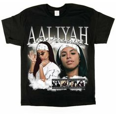 Aaliyah T-shirt from the Homage Tees collection. Now available online [subject to limited availability]. Aaliyah Shirt, Simpsons T Shirt, Vintage Tee Shirts, Tomboy Fashion, Streetwear Fashion, Women's Fashion, Casual Chic Style, Tee Design, Sweater Shirt