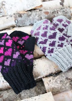 Ravelry: Valentine Mittens pattern by Milla H. Knitted Mittens Pattern, Fingerless Gloves Knitted, Knit Mittens, Knitting Socks, Fair Isle Knitting, Knitted Hats, Knitting Charts, Knitting Patterns Free, Free Knitting