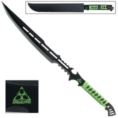 Are you a Hunter? Do you have what it takes to be a Hunter? If so you will need the Bio-Terror Zombie Apocalypse Massacre Death Sword. Hone your skills and make this sword an extension of yourself. Always be prepared don't be caught unprepared; you never know what is lurking around the next corner. The Bio-Terror Zombie Apocalypse Massacre Death Sword has an anodized black finish and constructed of stainless steel. #bioterrorzombieapocalypsemassacredeathsword