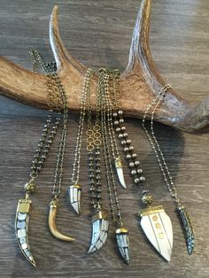 Horns and antler and bone and pyrite. Wholesale and retail. All one of a kind.  Lisajilljewelry@gmail.com