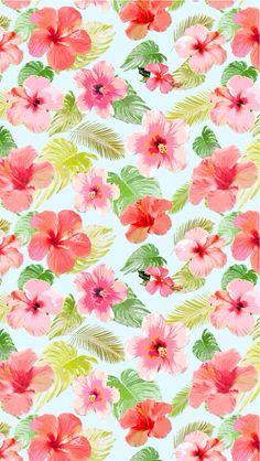 pattern, flower, tropical, art,