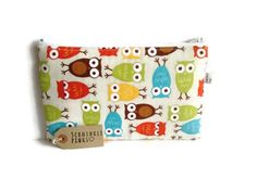 Large Owls Pencil Case / Makeup Bag / Travel Bag