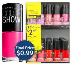 Maybelline Nail Lacquer, Only $0.99 at Walgreens!