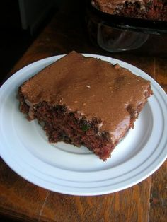 This chocolate zucchini cake is so good and gives you another way to use some of that zucchini. This is good with or without the frosting but I think the more chocolate the better. The frosting j. Just Desserts, Delicious Desserts, Yummy Food, Vegan Desserts, Cake Recipes, Dessert Recipes, Fun Recipes, Indian Cake, Zucchini Cake