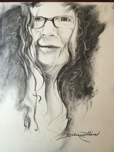 old school hand made selfie, charcoal  by Bridie Rollins www.bluecanvas.com