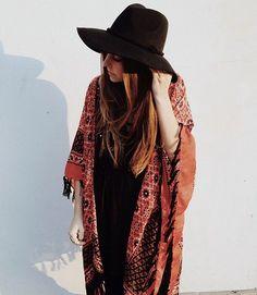 kimono and hat