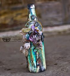 Finnabair: Art Bottle by Elena DT with video and step by step tutorial