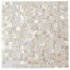 Splashback Tile Mother Of Pearl Serene White Squares 12 In X 2 Mm Seamless Shell Gl Wall Mosaic Mopwhtsqseamlespearl The Home