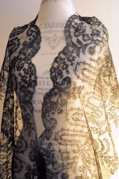 83 inches Antique 1850/1870 French Chantilly Lace Napoleon III Era   eBay