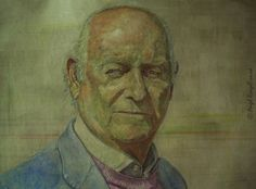 Portrait Painting .  Acrylic on Board . 77cm x 107cm .