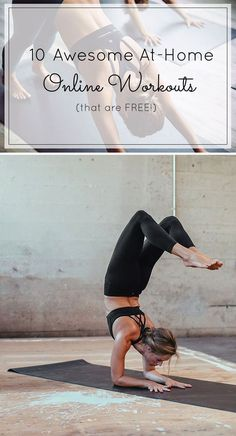 10 of the best FREE online workouts you can do at home (and still feel like you've kicked some butt for the day!) Click through for the details. | at-home workout ideas | tips for working out at home | at home fitness tips | tips for staying fit | online workout ideas | glitterinc.com | @glitterinc
