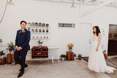 3 reasons you should do a 'first look' on your wedding day Wedding First Look, On Your Wedding Day, Confetti, That Look, Bride, Formal Dresses, Fashion, Wedding Bride, Dresses For Formal