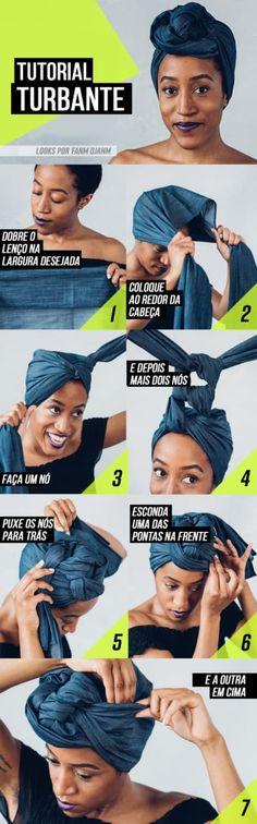 8 tutoriais fáceis para amarrar um turbante