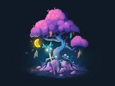 Druid's tree designed by Anna Novikova. Connect with them on Dribbble; the global community for designers and creative professionals. Art Cg, Art Isométrique, Armes Concept, Magical Tree, Isometric Art, Kids Artwork, Weapon Concept Art, Art Et Illustration, Sprites