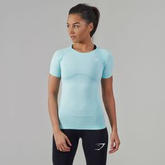 Gymshark Seamless T-Shirt - Mint Green  The Gymshark Seamless T-Shirt has a Seamless knit for improved comfort and closeness of fit. Perfect for all your exercises. Shop now > https://gymshark.com/products/gymshark-seamless-t-shirt-mint-green