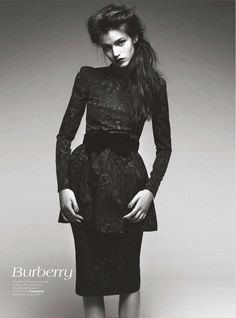 burberry: brave new look: vogue australia august 2012