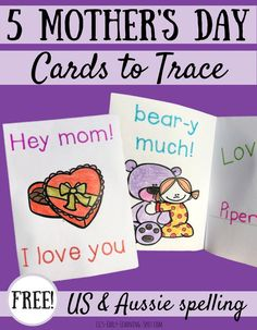 5 Mother's Day Cards to Trace