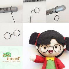Veja como fazer Óculos de arame para Pockets em feltro no blog: www.timart.com.br/blog, ou clique em visitar, para ver o tutorial completo!