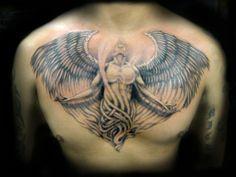Chest Tattoo by Rain at BLTNYC Tattoo Shop Queens  #tattoo #tattooartist