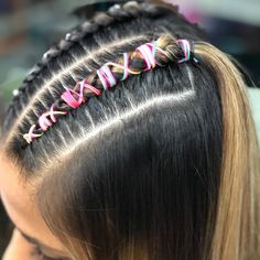 La imagen puede contener: una o varias personas Cute Hairstyles, Braided Hairstyles, Braid Styles, My Hair, Braids, Curly, Beauty, Box Braid, Plaits Hairstyles