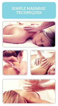 Simple massage techniques... For my husband.... :)