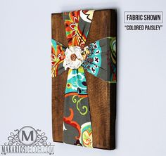 Fabric Wall Cross - these are so cool.  And look easy to make.