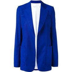 Victoria Beckham classic blazer (59.805 RUB) ❤ liked on Polyvore featuring outerwear, jackets, blazers, blue, blue blazers, blue jackets, victoria beckham, blue blazer jacket and blazer jacket
