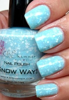 nail polish that looks like snow! - Click image to find more nail art posts