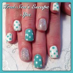 Blue & White Polka-Dots by TraiSeasEscape - Nail Art Gallery nailartgallery.nailsmag.com by Nails Magazine www.nailsmag.com #nailart